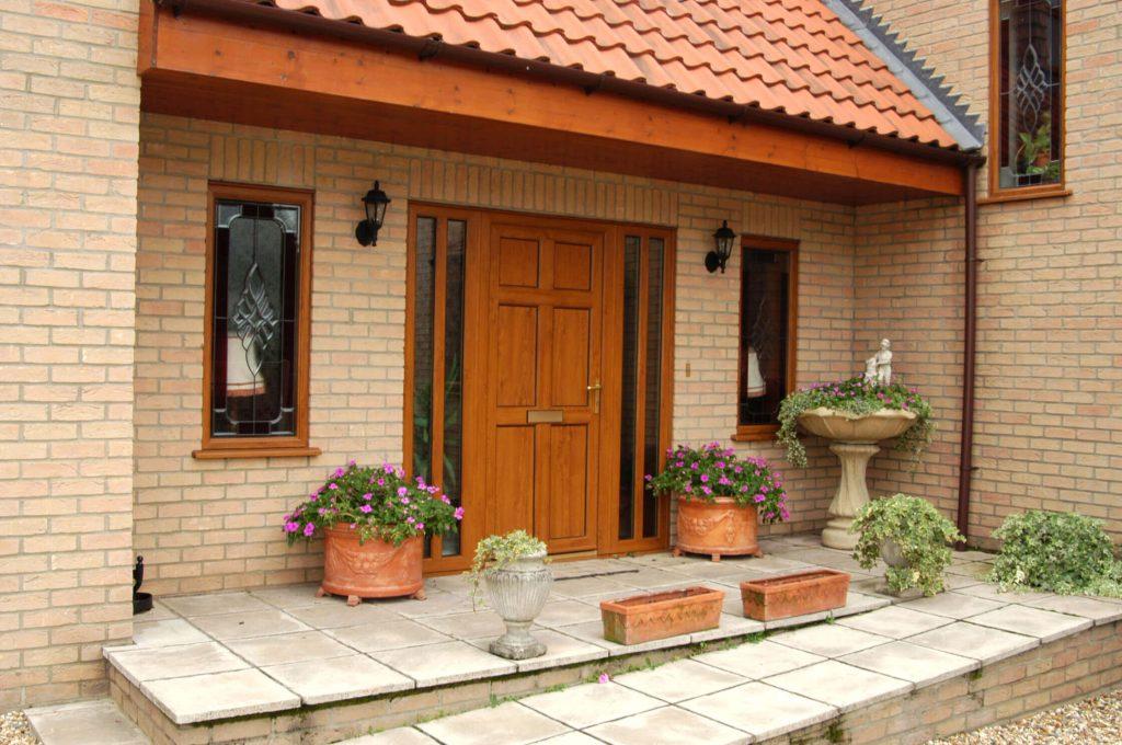 Brown Entrance Door