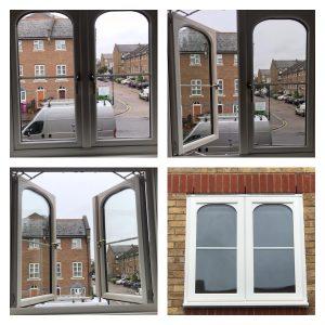 Rehau uPVC windows in London inside and outside.