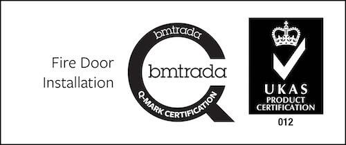 Fire door installation bmtrada Q-mark certification.