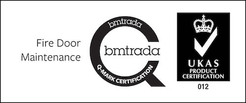 Fire door maintenance bmtrada Q-mark certification.